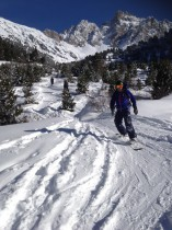 Snowboarding Off Piste in Meribel Courchevel